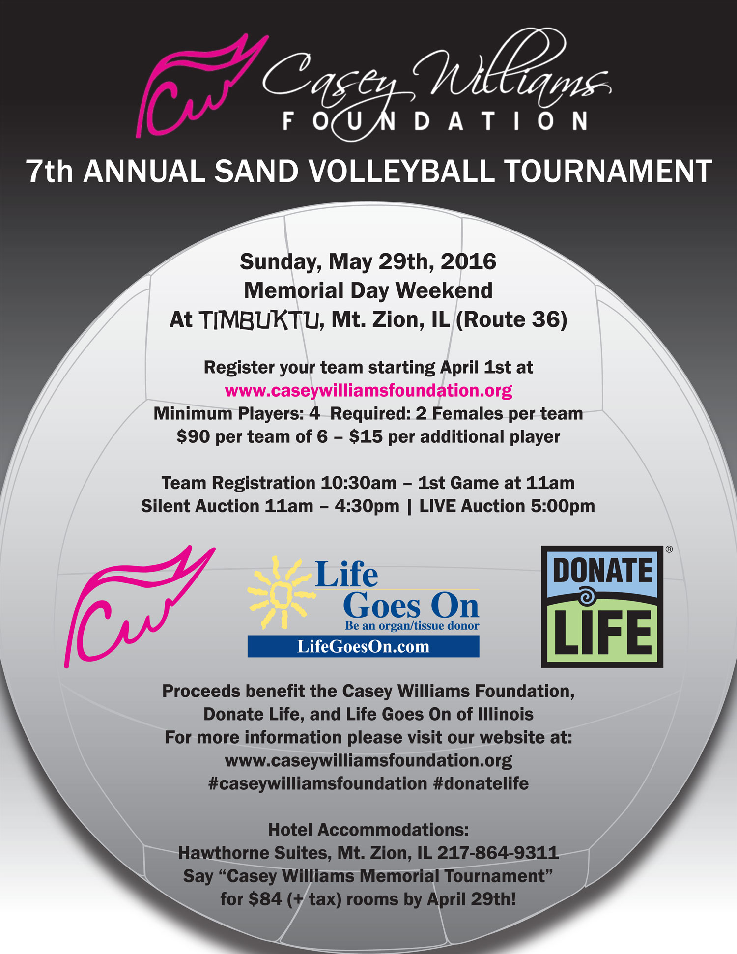 Casey Williams Foundation Volleyball